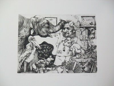 """Fall Special! Limited Edition Etching Print """"Veterinarian"""" by Charles Bragg!"""
