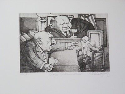 """Fall Special! Limited Ed Etching Print """"Cross Examination"""" by Charles Bragg!"""
