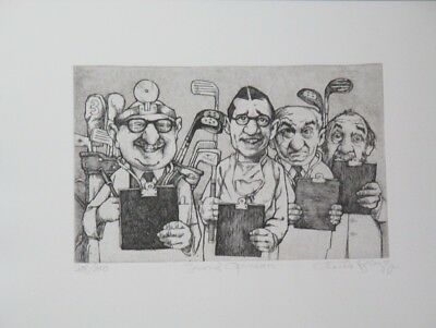 """Fall Special! Limited Ed Etching Print """"Second Opinion"""" by Charles Bragg!"""
