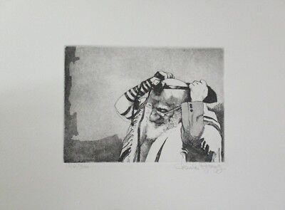"""Fall Special! Limited Ed Etching Print """"Tefillin"""" by Charles Bragg!"""