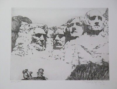"""Fall Special! Limited Ed Etching Print """"Mount Rushmore"""" by Charles Bragg!"""