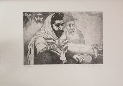 """Fall Special! Limited Ed Etching Print """"People of the Book"""" by Charles Bragg!"""