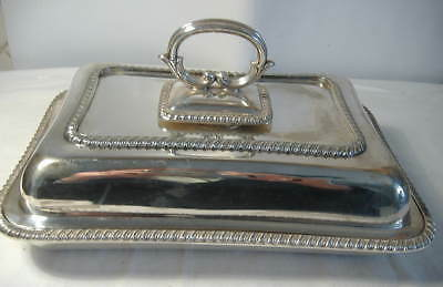 Silver Plated Oblong Entree Dish With Snap Top Handle