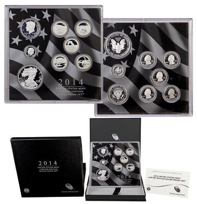 2014-S United States Limited Edition Silver Proof Set Mint Packaging SKU45224