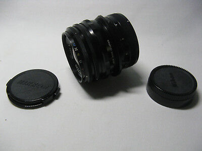 Vintage Nikon PC-NIKKOR 1:2.8 f=35mm Camera Lens w/ Caps & Leather Case