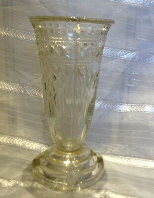 Victorian Pressed Glass Celery Vase Reg Loz And Greener Mark 1881