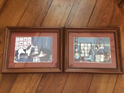 Home Interiors Country Framed Prints 1980's