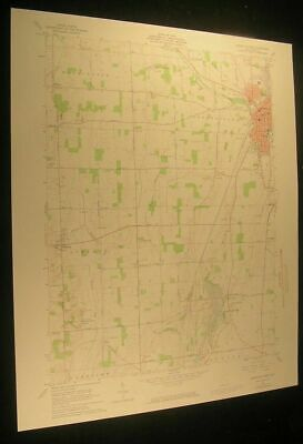 Greenville West Ohio Palestine Weavers 1974 vintage USGS original Topo chart map
