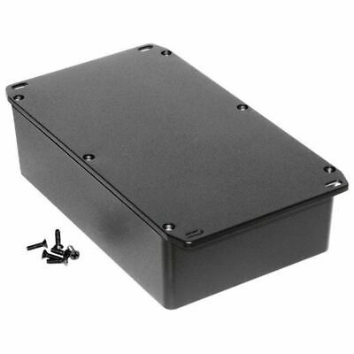 Hammond 1590DFLBK Diecast Enclosure Flanged Lid Black (187.5 x 119.5 x 56mm)