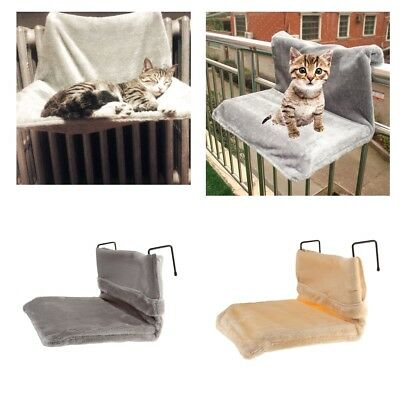 Cat Dog Radiator Bed Warm Pet Bed Fleece Basket Cradle Puppy Hammock with Hook