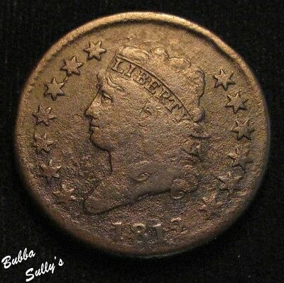 1812 Classic Head Large Cent <> S-291 R2 <> VERY GOOD