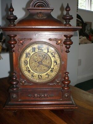 chiming wooden mantle clock