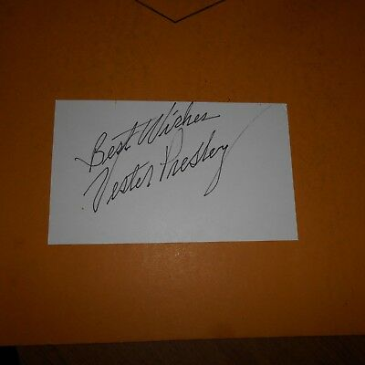 """Uncle of Elvis Presley. Known as """"Uncle Vester"""" to Elvis Hand Signed Index Card"""