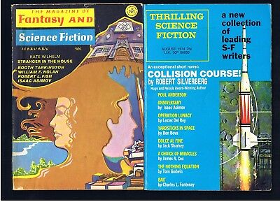 FANTASY & SCIENCE FICTION + THRILLING SCI-FI 1970s DIGEST LOT ~ EX COND