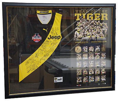Richmond 2017 AFL Premiers Signed Official Team Jumper Framed - COTCHIN MARTIN