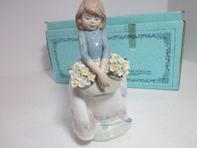"""Lladro  Figurine # 01005467 """"may Flowers"""" Collectible   Mint In Orginal Box Rare"""