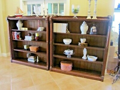 Pair of Large Antique Solid Mahogany Bookcases - Mid 1800's Americana