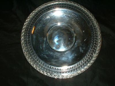 """2021 Wm Rogers & SonSpring Flowers Silverplate 12"""" Round Tray Tarnish Cloth Inc"""