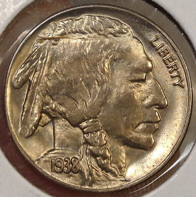 1938-D Buffalo Nickel, Choice to Gem Uncirculated, Repunched Mintmark?   0120-15