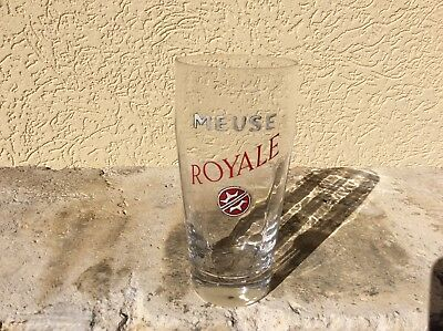 Ancien Verre a Biere Emaillee a Facettes Meuse royale collection