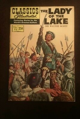Classic Illustrated #75 High Grade Issue- The Lady of the Lake HRN 169