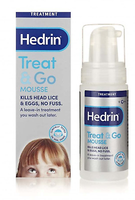 Hedrin Treat & Go MOUSSE - Easy No Fuss Get Rid Head Lice & Their Egg / 100ml
