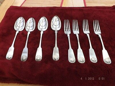 Vintage Joseph Gilbert serving spoons and forks late 19th century