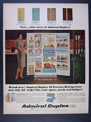 1965 Admiral Duplex Refrigerator photo 4 Sizes & Colors vintage print Ad