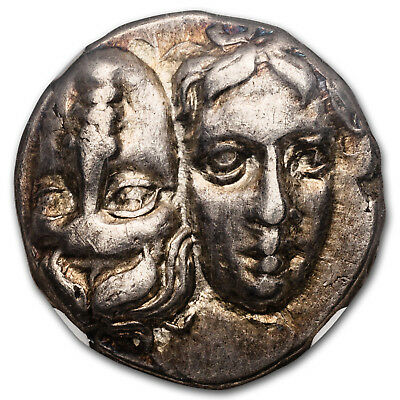 Moesia, Istrus Silver Stater (4th century BC) XF NGC - SKU#173621