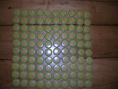 100 Unused Sun Drop Soda Bottle Caps