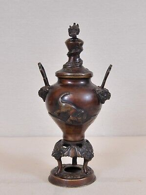 Antique Japanese Bronze vase, Meiji period, 19th century