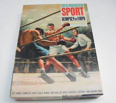 Vintage Modellbausatz Aurora Great Moments in Sports Dempsey vs Firpo 1965