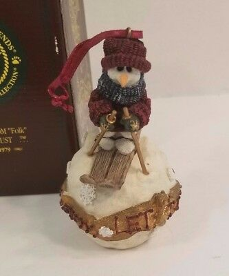 Boyds Bears & Friends Let It Snow Christmas Ornament The Folkstone Collection