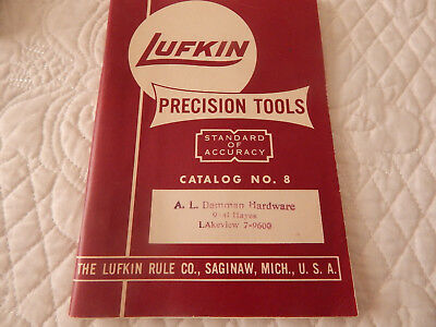 Lufkin Precision Tools Catalog #8 Canada Gages Machinist Micrometer Measuring