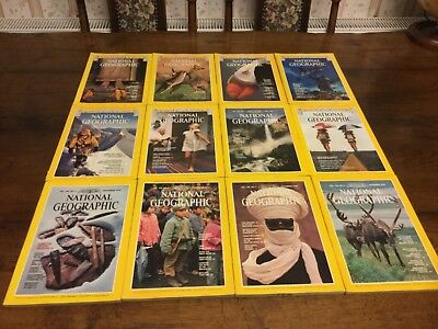 National Geographic magazines 1979, 12 issues, full year completed