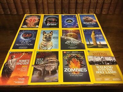 National Geographic magazines 2014, 12 issues, full year completed