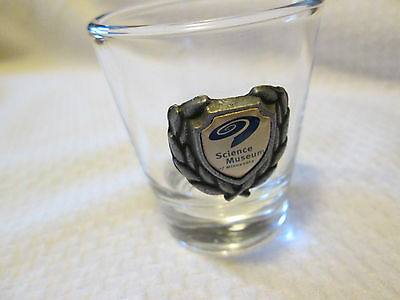 Souvenir Shot Glass  MN , Minnesota  Science Museum Pewter