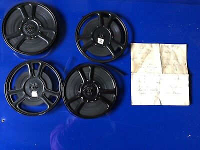 4 Vintage Pathe 9.5 Cine Films 1938 Coventry,  Trains, Wedding, Wildlife