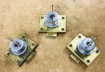 Set Of 3 Mills Original Numbered Locks With Matching Keys