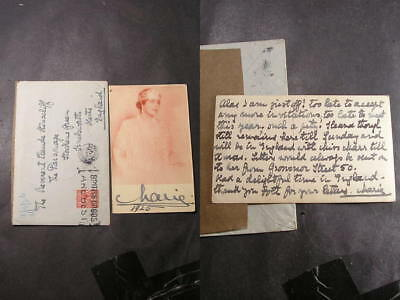 1925 Queen Marie of Romania Signed Postcard with Letter Message To Rev Hinscliff