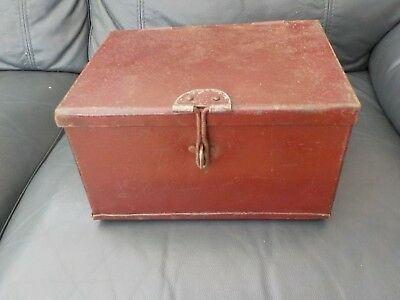 Deeds Box Cash Tin Vintage Metal collectable