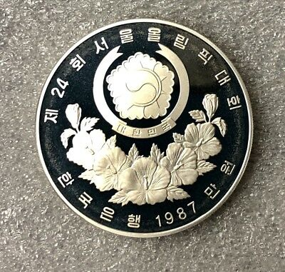 1988 Korea Olympic Silver Coin 10000 Won, UNC