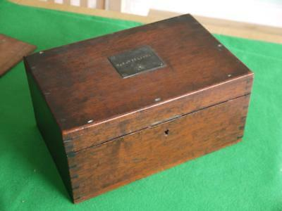 Nice Quality Victorian Antique Hardwood Storage Box Dovetailed Corners Williams