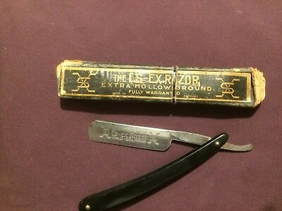 nice looking high quality cut throat razor es = ex razor germany solingen