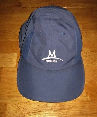 Mission Enduracool hat instant cool performance cap polyester unisex navy blue