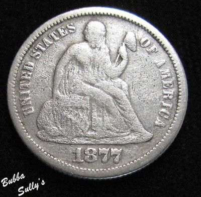 1877 Seated Liberty Dime <> VG Details