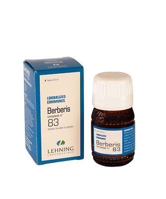 Lehning Berberis Complexe No 83 - Nerve Pain Disorder, Lower Back pain 30ml