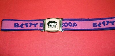 Betty Boop Magnetic Buckle Belt 1984 Excellent Condition