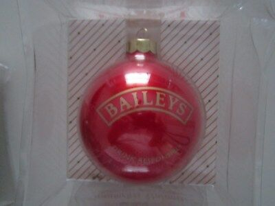 New Bailey's Irish Creme Christmas Ornament Red Tree Ball Mip