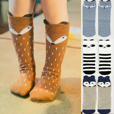 Baby Cute Cartoon Soft Cotton Leg Warmers Knee High Long Socks Boy Girl Toddler
